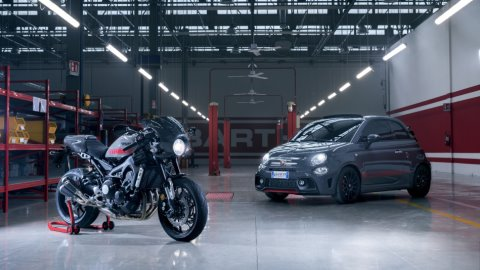 2017 Yamaha XSR900 Abarth EU Nimbus Grey Static 014 480