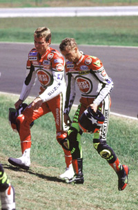 1993 - Peter mit Kevin Schwantz beim Australischen 500cc Grand Prix in Eastern Creek
